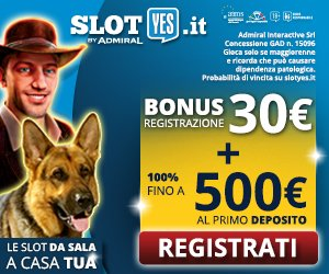 Slotyes Bonus 30 euro